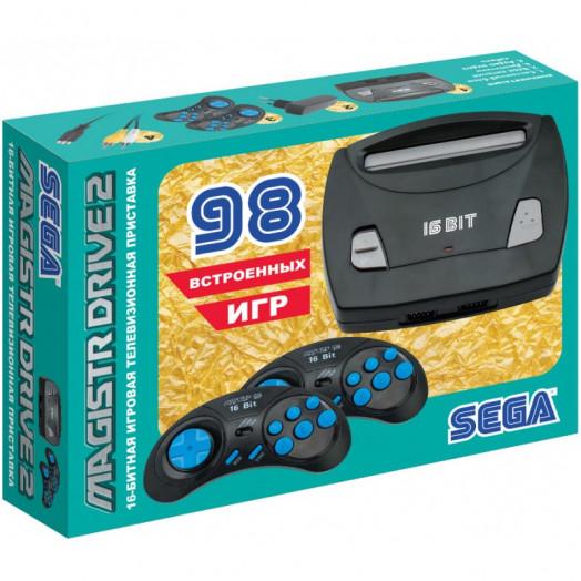 Сборник 98 встроенных игр для приставки Magistr Drive 2 lit